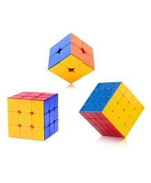Emob Rubic Cube Combo Set Multi Color - Pack of 3