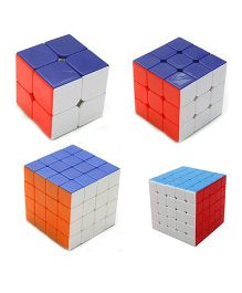Emob Magic Rubik Cube Combo Blue & White - Set Of 4