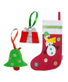 Li'Ll Pumpkins Snowman Socks & 2 Gift Tags - Multicolour