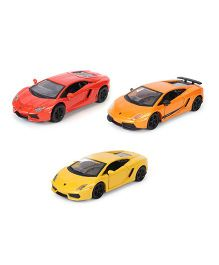 Marktech Die Cast Lamborghini Cars Multicolor - Pack of 3
