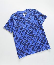 Adidas Half Sleeves T-Shirt - Royal Blue