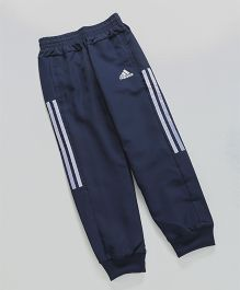 Adidas Full Length Track Pant Front Zipper Pockets - Navy