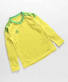 Adidas Full Sleeves T-Shirt - Lemon Yellow