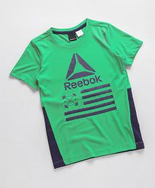 Reebok Half Sleeves T-Shirt - Green