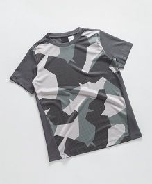 Reebok Half Sleeves T-Shirt - Dark Grey