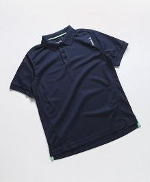 Reebok Half Sleeves T-Shirt Collar Neck - Navy Blue