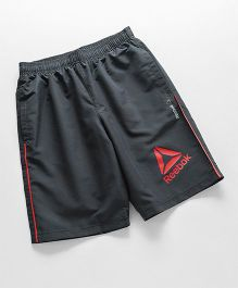 Reebok Casual Shorts With Logo Print - Dark Grey