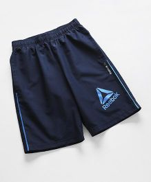 Reebok Casual Shorts With Logo Print - Navy