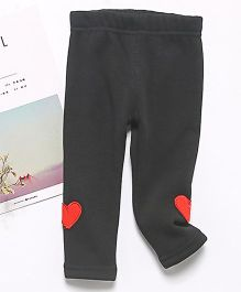 Pre Order - Awabox Heart Patch Leggings - Dark Grey