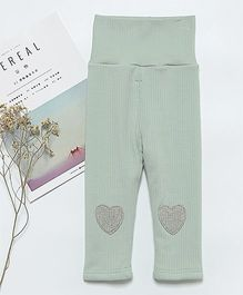 Pre Order - Awabox Heart Patch Leggings - Blue