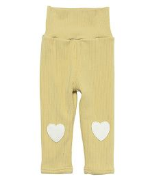 Pre Order - Awabox Heart Patch Leggings - Yellow