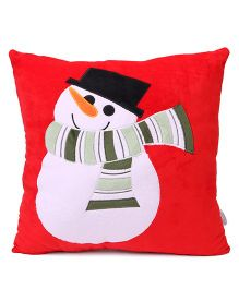 Benny & Bunny Cushion Joy Embroidery - Red