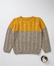 Mothercare Full Sleeves Knitted Sweater - Mustard Yellow