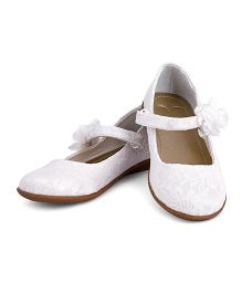 Mothercare Belly Shoes Lace And Flower Corsage - White