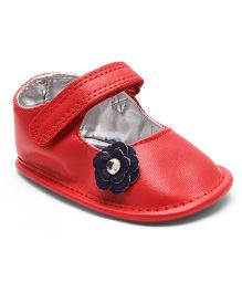 Mothercare Booties Floral Motifs - Red