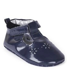 Mothercare Belly Shoes Style Booties Butterfly Applique - Navy Blue