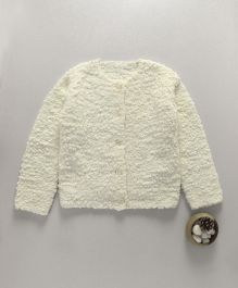 Mothercare Full Sleeves Popcorn Knit Cardigan - Cream
