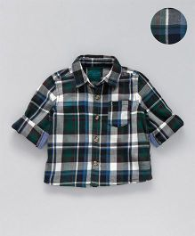 Mothercare Full Sleeves Shirt Checks Pattern - Multi Color