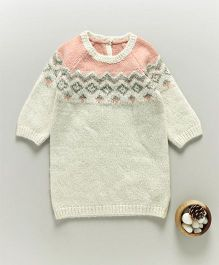 Mothercare Winter Wear Full Sleeves Pullover Sweater - Off White