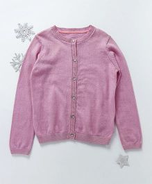 Mothercare Full Sleeves Cardigan - Pink