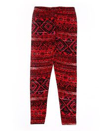 Lilpicks Couture All Over Print Leggings - Red