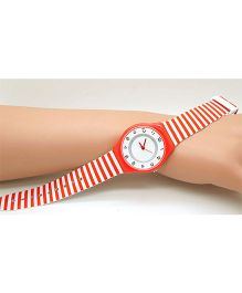 Lilpicks Couture Stripe Watch - Red
