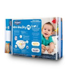 Drypers Wee Wee Dry Diapers Medium Size - 52 Pieces