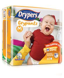 Drypers Drypantz Diaper Medium Size - 60 Pieces