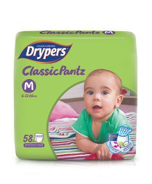 Drypers Classicpantz Diaper Medium Size - 58 Pieces