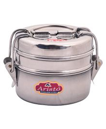 Aristo Stainless Steel Tiffin Box Silver - 370 ml