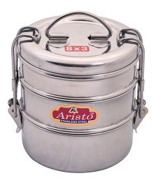 Aristo Stainless Steel Lunch Box Silver - 430 ml