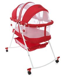 Babyhug Lullaby Bassinet - Red