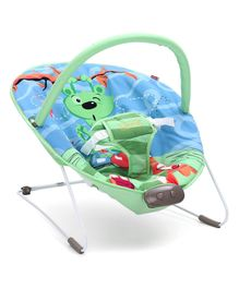 Babyhug Comfy Bouncer Animal Print - Blue Green