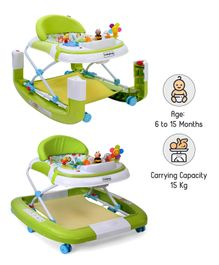 Babyhug Little Footsteps Walker Cum Rocker - Green