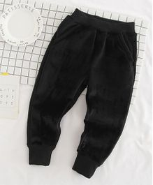 Pre Order - Awabox Stylish Velvet Pants - Black