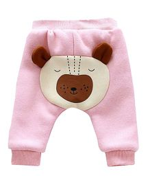 Pre Order - Awabox Teddy Applique Pants - Pink