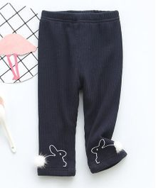 Pre Order - Awabox Cute Bunny Design Leggings - Navy