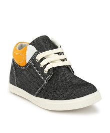 Tuskey Denim Casual Shoes - Black