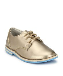 Tuskey Party Wear Shoes - Golden