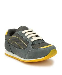 Tuskey Casual Jogger Shoes - Grey Yellow