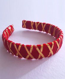 Soulfulsaai Gota Criss Cross Hairband - Red