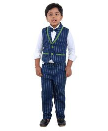 Kidology Grass Stripe Suit - Navy & Green