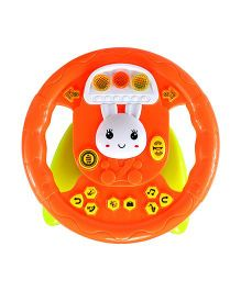 Planet of Toys Steering Wheel With Lights & Music - Orange