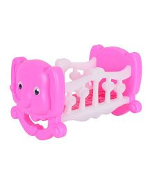Planet of Toys Cradle For Dolls - Pink White