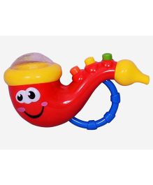 Planet of Toys Whistle Toy With Music & Lights - Red