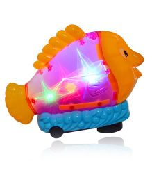 Planet of Toys Battery Operated Cutefish Toy - Pink & Orange