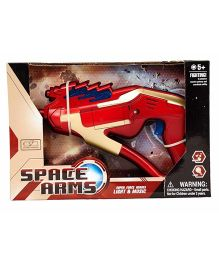 Planet of Toys Space Arms Weapon With Light & Music Red Golden - 24 cm