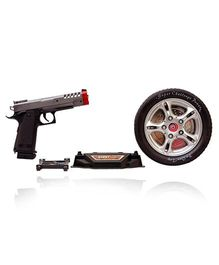 Planet of Toys Turntable Shoot Game With Infrared Gun - Black Grey