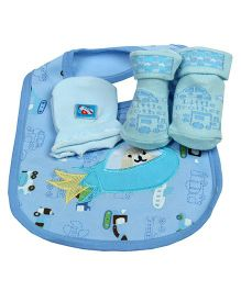 Babies Bloom Gift Set Born To Fly Design Set of 3 - Blue