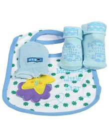 Babies Bloom Gift Set Mummy's Little Star Design Set of 3 - Blue White
